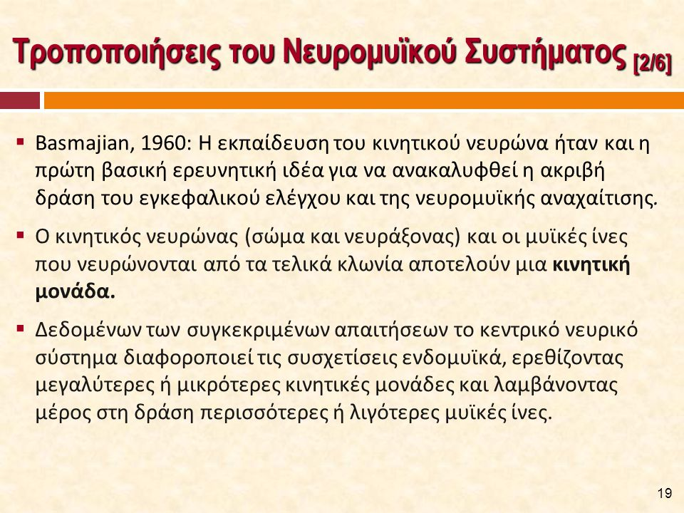 Τροποποιήσεις του Νευρομυϊκού Συστήματος [3/6]